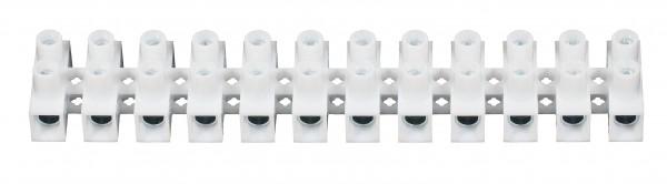 C1050250PPNH 10 X Euroklemmleiste Klemmleiste 2,5 - 4,0 mm² 12-polig weiss Lüsterklemme