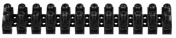 C1050601EPPN 10 X Euroklemmleiste Klemmleiste 12 polig 6,0 - 10,0 mm² schwarz Lüsterklemme